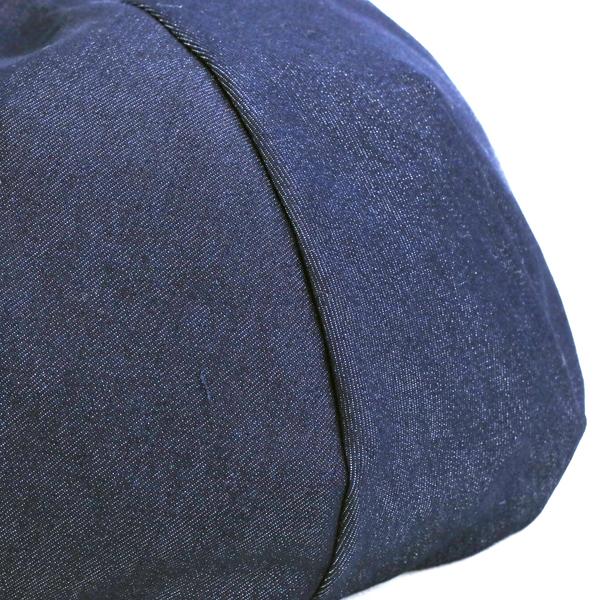 Denim beret Lady's ruben beret hat men denim beret Shin pull plain fabric hat indigo RUBEN size adjustment adjustable size man and woman combined use unisex casual coordinates fashion trend / dark blue navy [beret] in the spring and summer