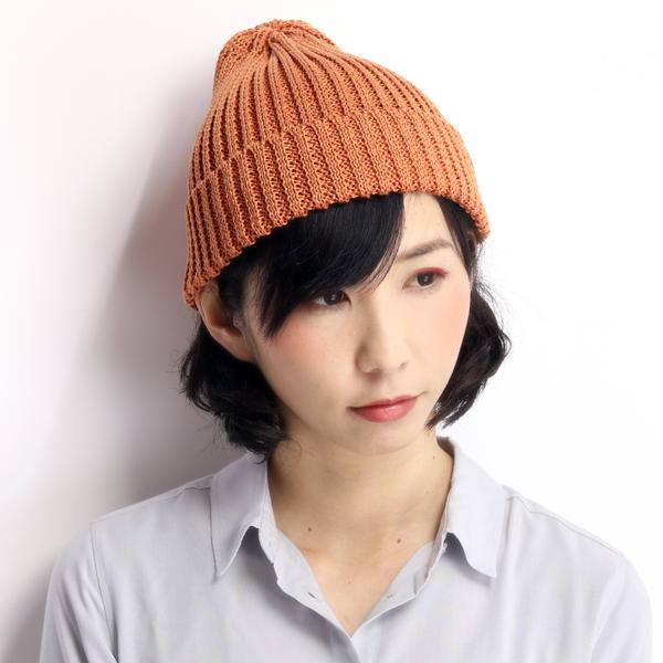f24fceb6575 ... ROYAL STETSON knit hat hemp 100% rib beanie royal Stetson adjustable  size   bitter orange ...