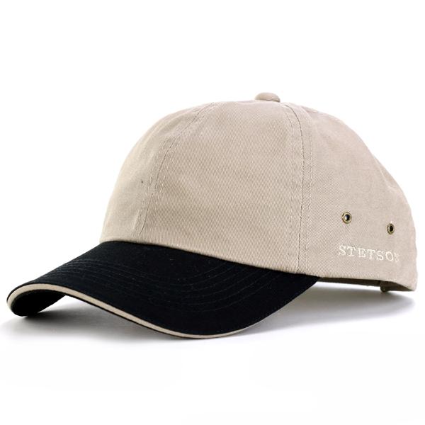 b7b546436d1 Stetson cap men ウォッシュドツイルツートーンベースボールキャップ stetson stetson oar season hat  adjustable ...