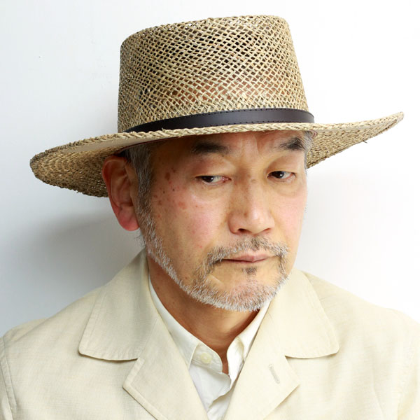 STETSON straw hat broad-brimmed sea glass boater style men GAMBLER hat  breathability awning straw ... e5e4b81bb5d