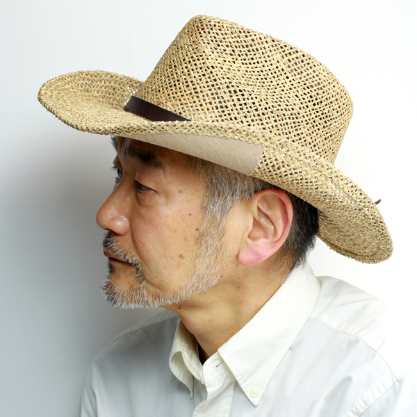 stetson hat cowboy sea glass Stetson summer straw hat men 58cm 60cm straw  hat coating processing getting out of shape prevention hat natural material