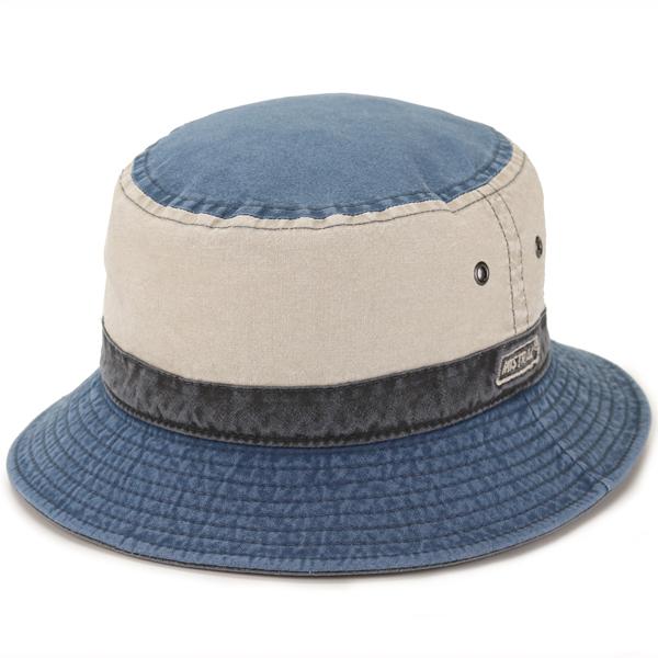 クランベス サファリ ハット メンズ レディース UV カット コットン 帽子 サハリ 紫外線 予防 ユニセックス 春夏 PINNELLO型 MISTRAL フランス製 綿 ミストラル 紺 ネイビー [ bucket hat ] ギフト プレゼント UVカット帽子