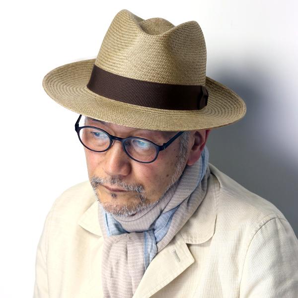 パナマ帽 メンズ つば広 ハット 中折れ 大きいサイズ 春夏 紳士 帽子 セラノハット ワイドブリム エクアドル パナマハット メンズ M L XL ティアドロップ ストローハット リボン 無地 メンズ 夏 コーデ / 茶 ブラウン [ panama hat ] 父の日ギフト プレゼント