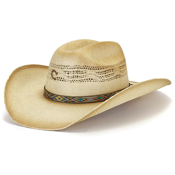 Large size XL size   natural  cowboy hat  with charlie 1 horse ten- ... 3c235ecfb89