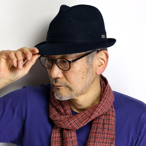 ステットソン 帽子 中折れハット メンズ 大きいサイズ M L LL 3L ROYAL STETSON 帽子 リネン 涼しい 日本製 春夏 中折れ帽子 紳士 麻 サーモニット マニッシュ ハット通気性 紺 ネイビー [ fedora ] stetson 帽子通販 男性 誕生日 プレゼント
