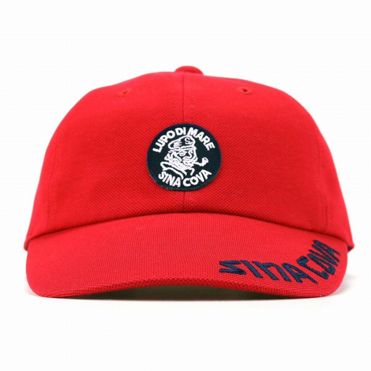 It is a gift in the China Koba hat cotton 100% SINACOVA cap men fawn men size size adjustment M L LL sports Malin fashion brand logo cap ultraviolet rays measures Shin pull / red red [baseball cap] Father's Day when a product made in Japan baseball cap g