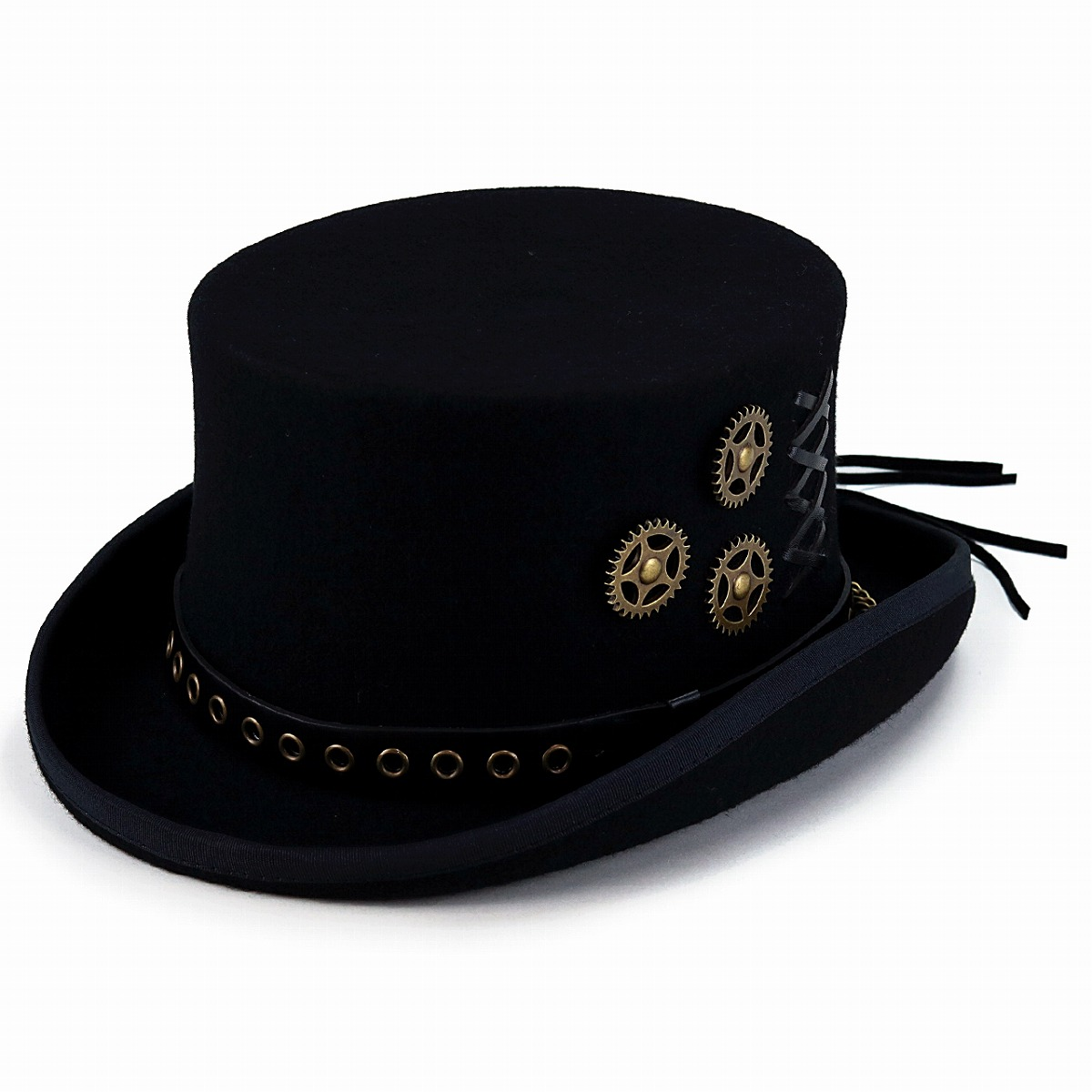 Black Kenny K Wool Felt English Topper Hat