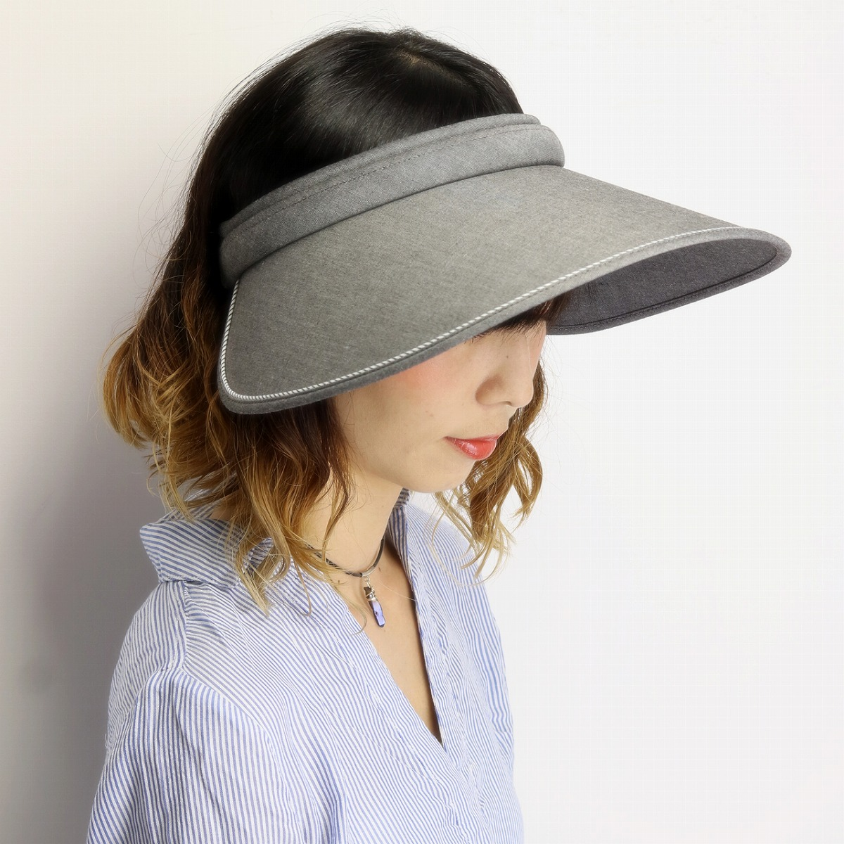 It is a present on gift hat Respect for the Aged Day in the sun visor woman hat plain fabric / black black [visor] Mother's Day when simple life sun visor cool max Lady's ultraviolet rays measures visor UV measures awning hat Simple life brand clip visor