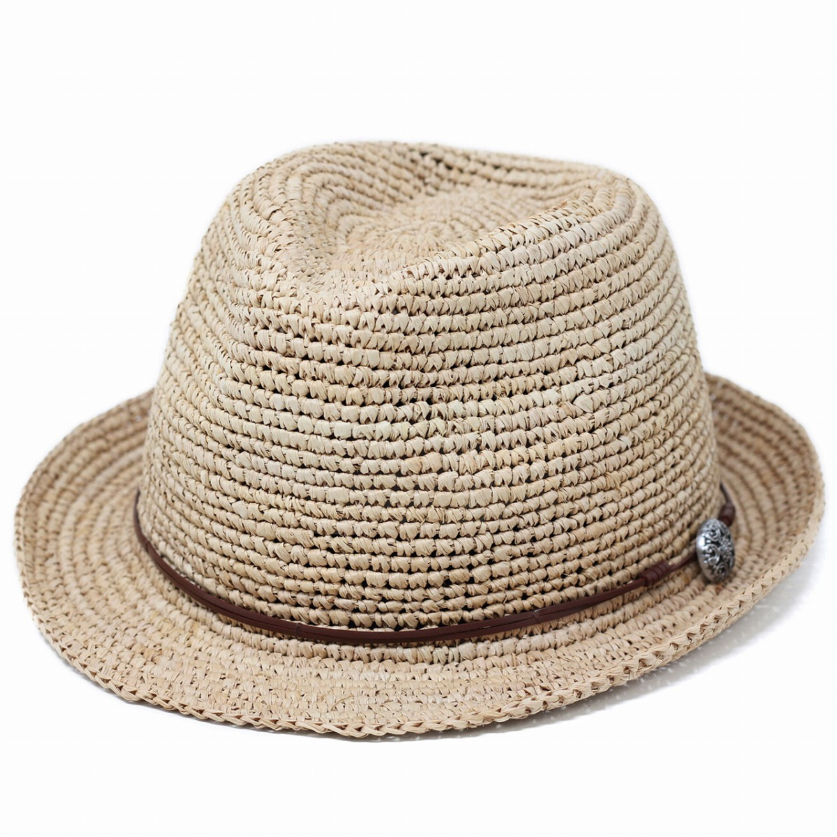 新色入荷 コンチョがとってもお洒落な中折れ帽子 ハット レディース 麦わら帽子 大きいサイズ 夏 通常便なら送料無料 ストローハット ラフィア素材 お見舞い 柔らかい ソフト 中折れハット ラフィア 敬老の日 hat 天然素材 56cm 62cm 60cm straw 小さいサイズ 58cm グレージュ