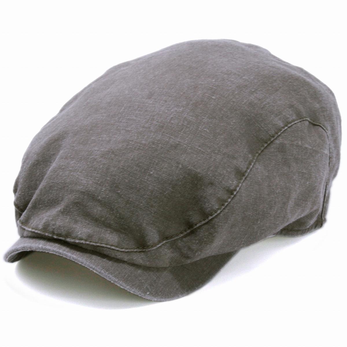 ハンチング メンズ 大きいサイズ ウォッシュドリネン WIGENS 帽子 Ivy contemporary cap ヴィゲン ハンチング帽 インポート 無地 シンプル ブランド ハンチング帽子 紳士 ウィーゲン 春夏 帽子 58cm 60cm 62cm 64cm / トープ[ ivy cap ]プレゼント 男性 父の日 ギフト