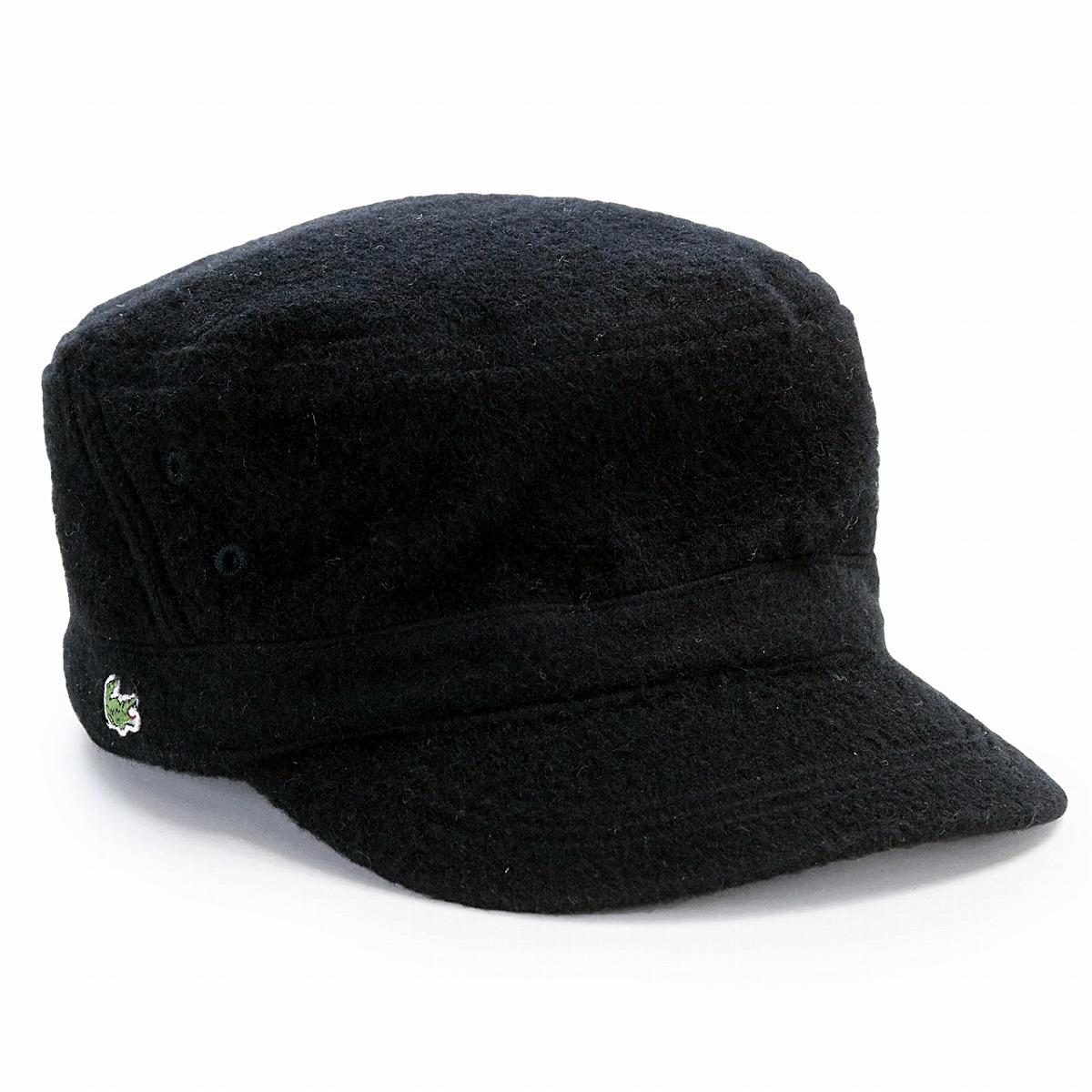 Cap 56.5cm 58cm 59.5cm   black black  cadet cap  gift present made in  Lacoste work cap men lacoste cap Lady s LACOSTE hat embroidery wool de  Gaulle cap ... f3a6f7326b3d
