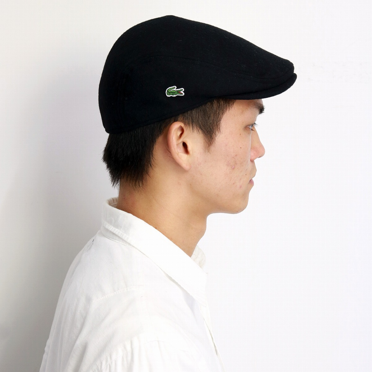 c6919b0108f67 Crocodile brand casual clothes black black  ivy cap  gift present made in hunting  cap men lacoste hat Shin pull plain fabric Lacoste hunting cap hat ...