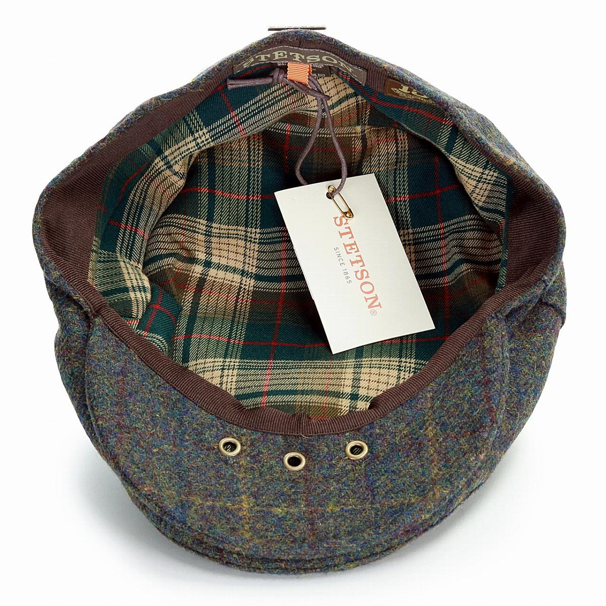 ... STETSON wool hunting cap men checked pattern Stetson hat USA import  brand hunting cap hat gentleman ... 2e8ebc533768