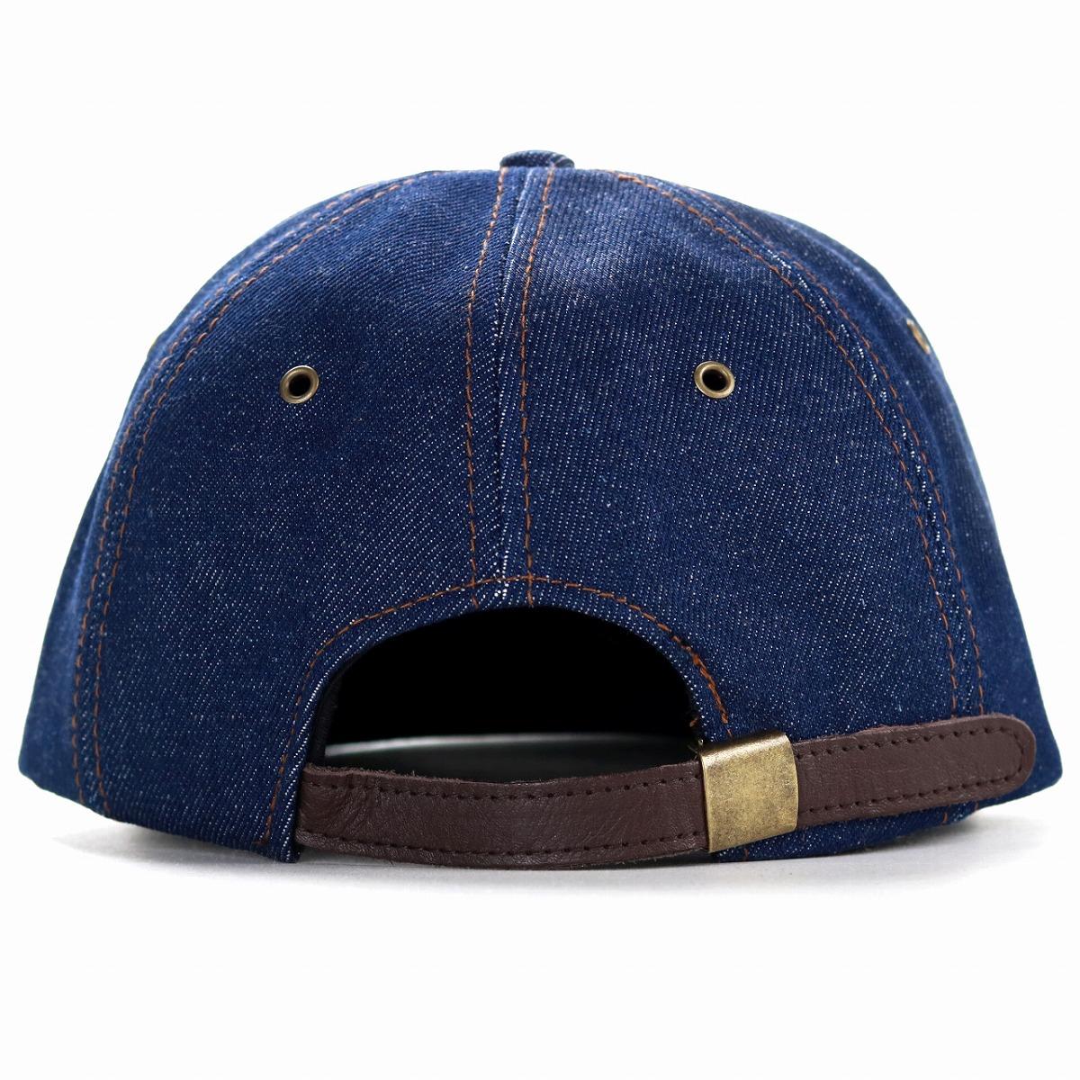 ... NEW YORK HAT blue blue denim baseball cap Shin pull plain fabric  adjustable size unisex ... 19b6e49a528
