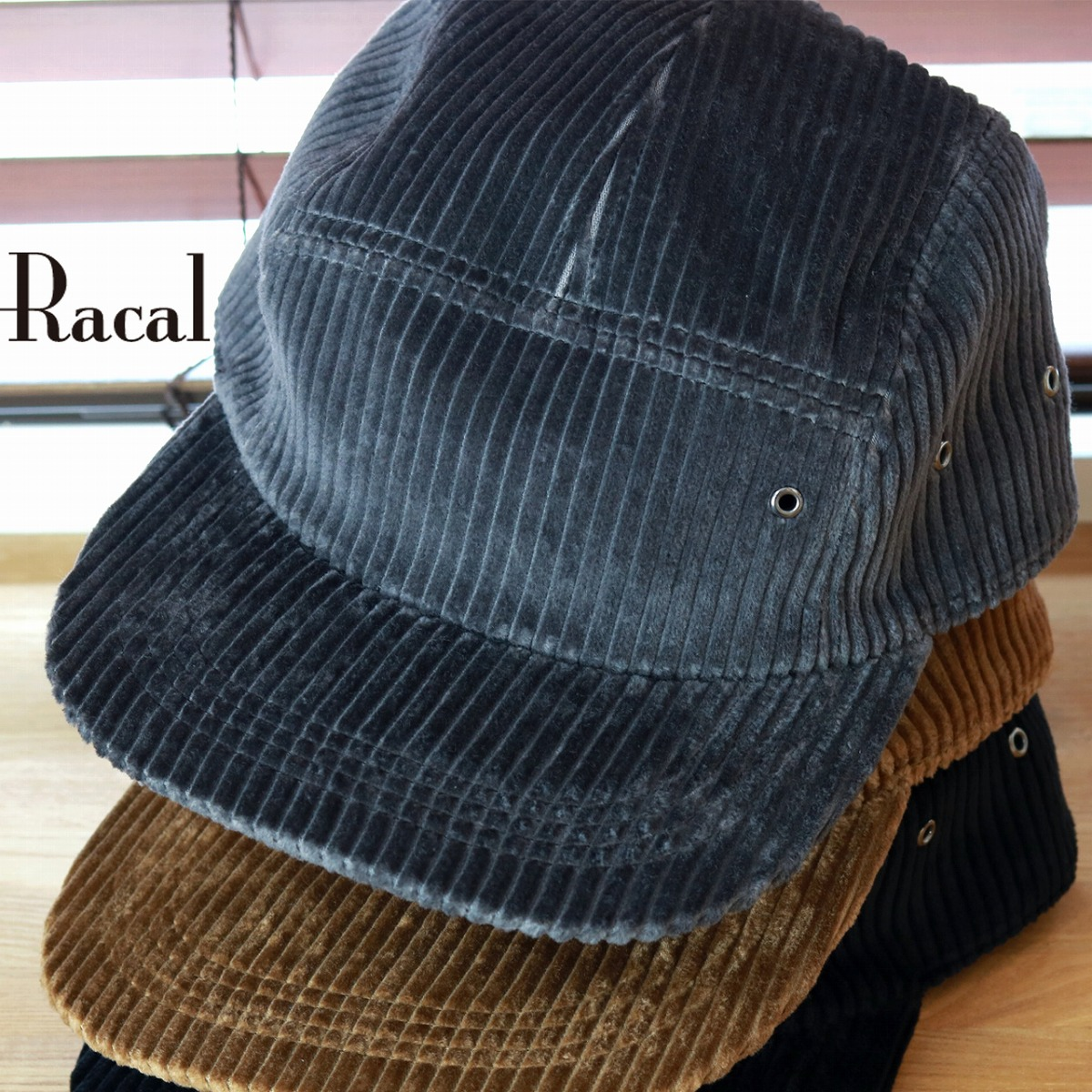 2fc74b52ce18a racal kodeyuroirakaru秋天冬天人蓋子帽子大人噴氣蓋子條紋太畝棉布100%素色簡單日本製造名牌零碼漂亮的menzukode秋天小東西/ 灰色灰色[cap]