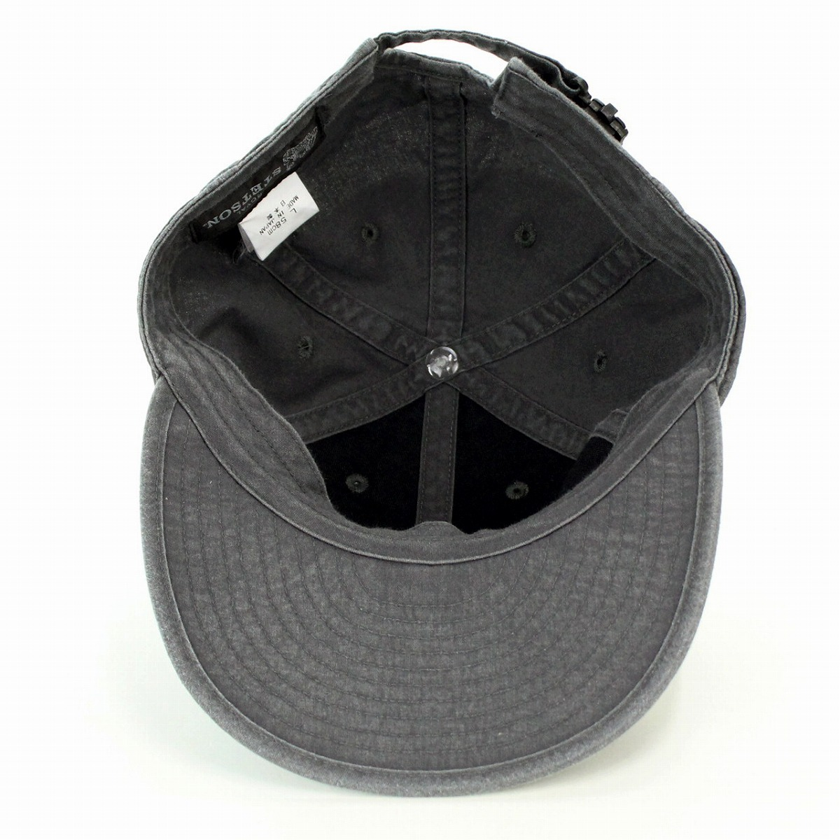 ... It is folding 6 cap Shin pull size richness size adjustment possibility    black black ... 02d92be0b8ce