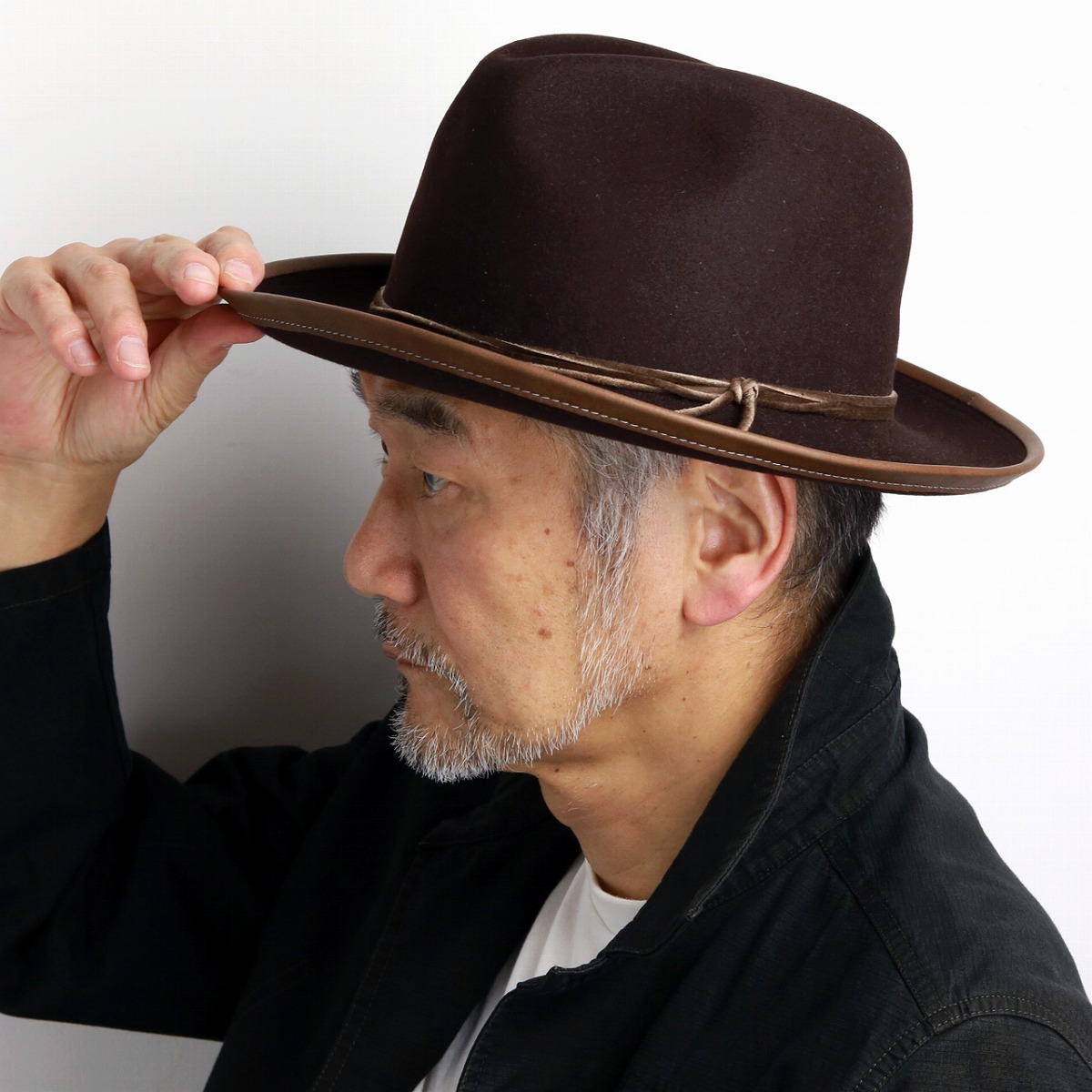 The Stetson broad-brimmed hat men brown tea  wide-brim hat  stetson hat  mail order man hat Christmas gift present that a product made in stetson hat  wide ... 6c2a9710ba4
