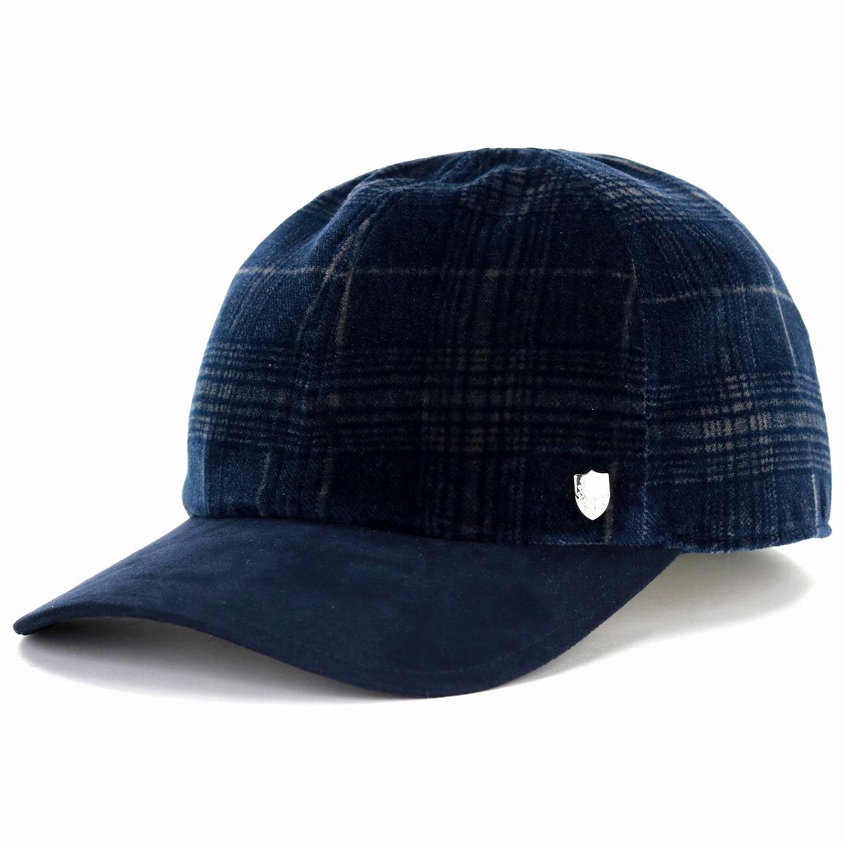 d5e9fceecd2 Dark blue navy  baseball cap  man Christmas present hat made in size  baseball cap M L LL size adjustment Pontoglio Belvet Japan which DAKS cap  men check ...