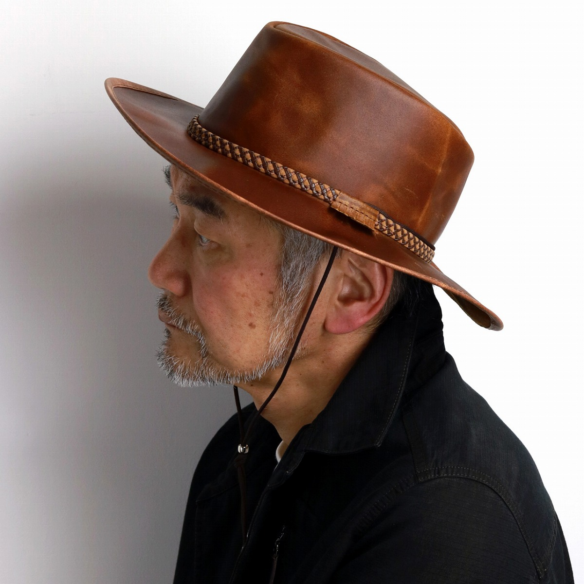 3e085a9ab6e ... Product made in Head n Home cowboy hat leather men hat genuine leather  United States ...