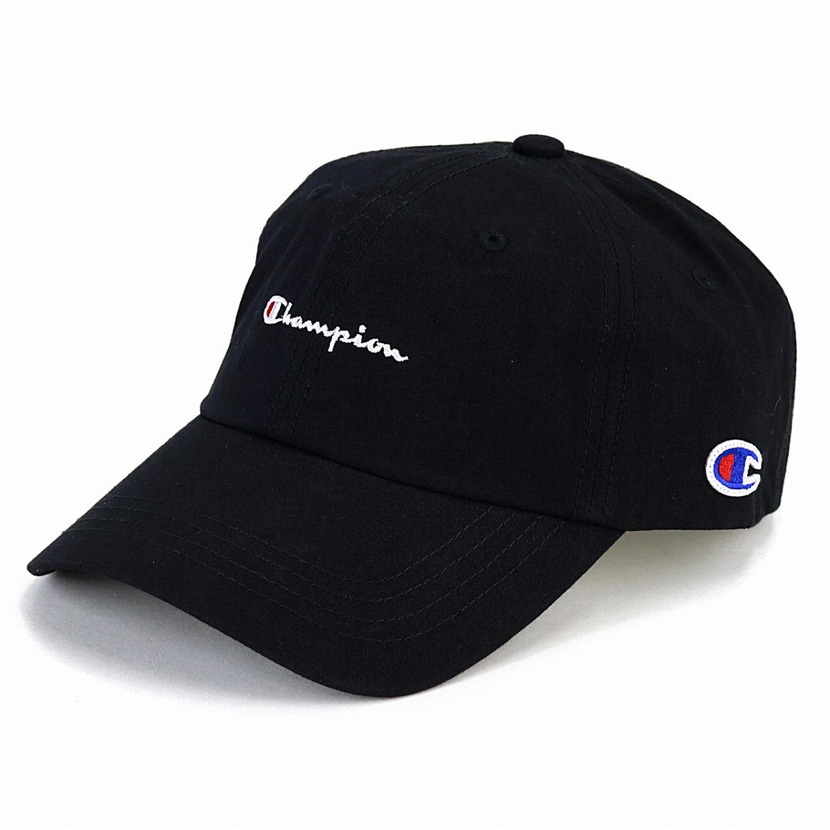 8ce60c676bcf56 Cap men champion logo cap champion low cap Lady's Shin pull plain casual  coordinates hat sports cap unisex adjustable size / dark blue navy [baseball  cap] ...
