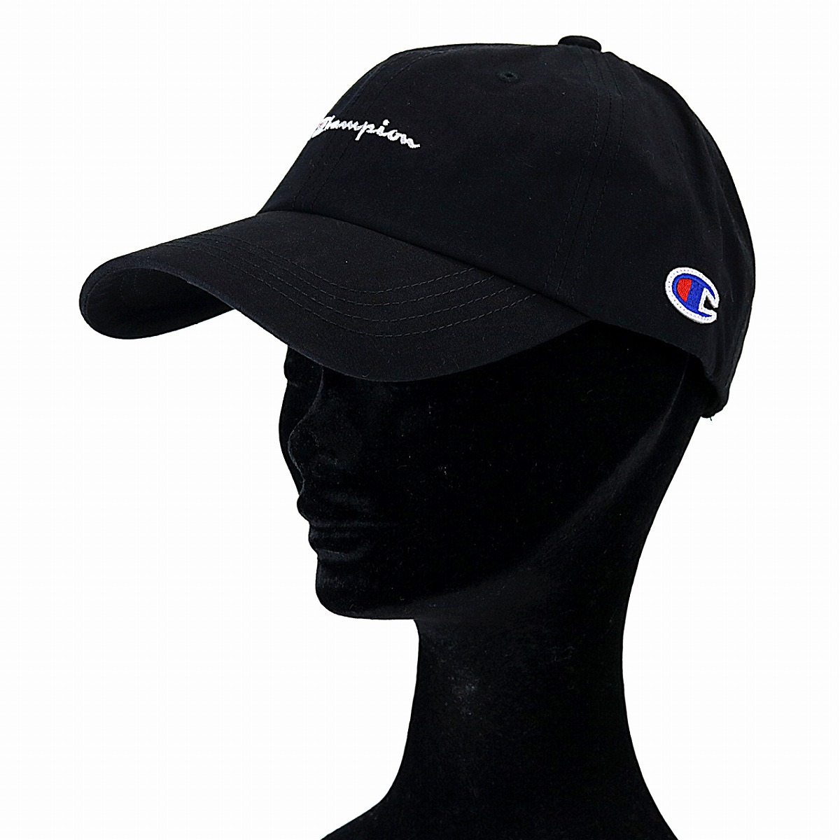 8185d40e92b Champion cap black men champion low cap Lady s logo cap Shin pull plain  casual coordinates hat sports cap unisex adjustable size   black  baseball  cap  ...