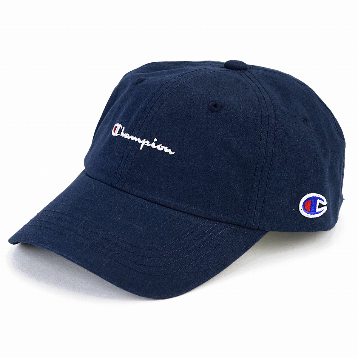 0e69264e223 Cap men champion logo cap champion low cap Lady s Shin pull plain casual  coordinates hat sports cap unisex adjustable size   dark blue navy   baseball cap  ...