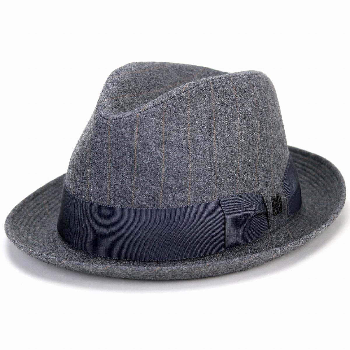 28e0576603065 ELEHELM HAT STORE    gray  fedora  man Christmas present hat made in 100%  of DAKS hat felt hat stripe men daks soft felt hat Hattori Bonn Pineau type  wool ...
