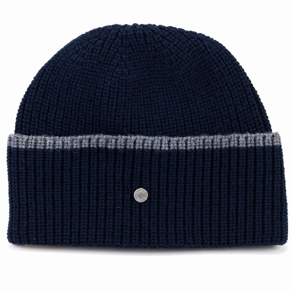 4bb707ce8bd Dark blue navy  beanie cap  man Christmas present hat with product made in  DAKS knit hat men merino wool lapel ニットワッチレディース hair 100% Daks hat ...