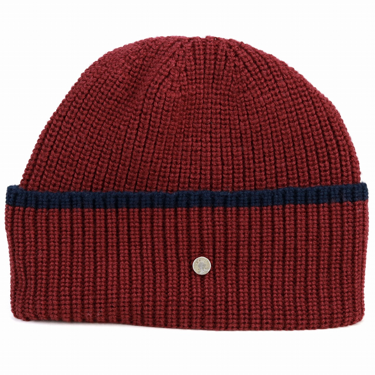 Red Bordeaux  beanie cap  man Christmas present hat with product made in  Daks knit ... 3e2d8d18629