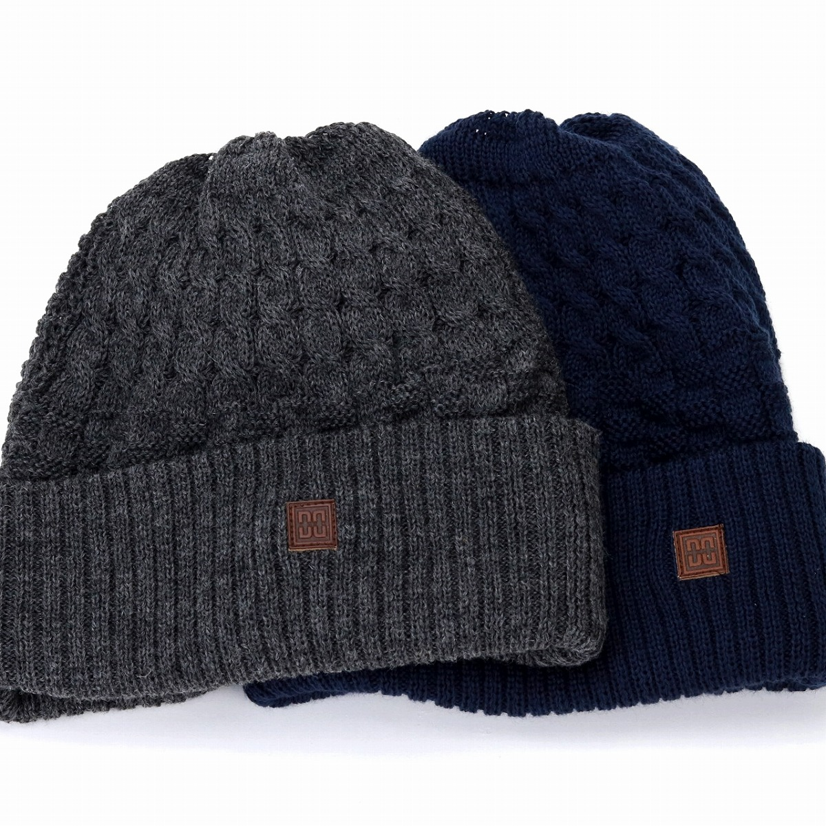 25d41628d7e Simple plain cold protection dark blue navy  beanie cap  man Christmas  present hat with ニットワッチタグ made in DAKS lapel ニットワッチ wool blend CADET48 ...