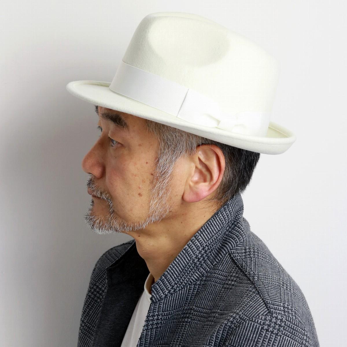 21d63139222 ELEHELM HAT STORE: SCALA hat felt men scalar hat Shin pull plain fabric  wool felt size M L XL trilby hat / white ivory [fedora] which a soft felt  hat ...