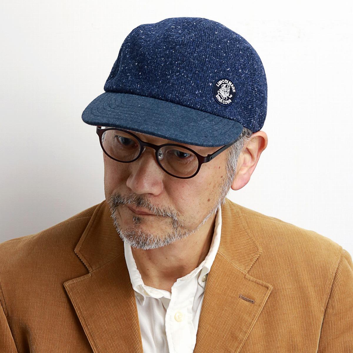 4983c345 ELEHELM HAT STORE: The cap men sicacova hat check Viyella raised NEP knit  CAP winter material logo mark Malin coordinates Malin buran super-sadist M  L ...