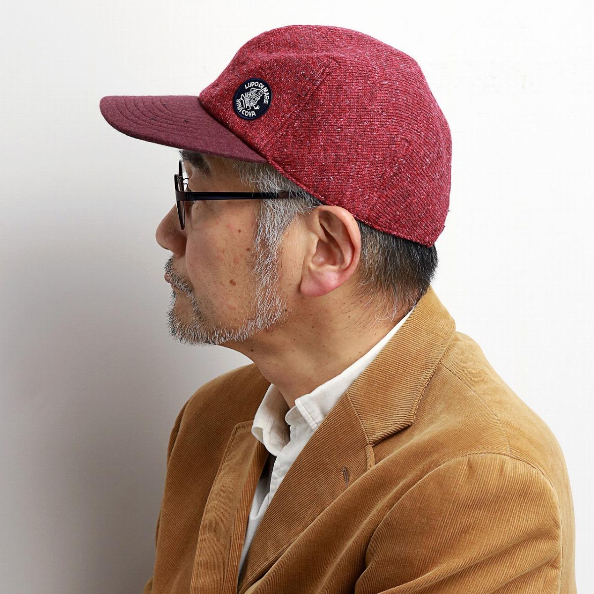 52647601 ... The cap men sicacova hat check Viyella raised NEP knit CAP winter  material logo mark Malin ...