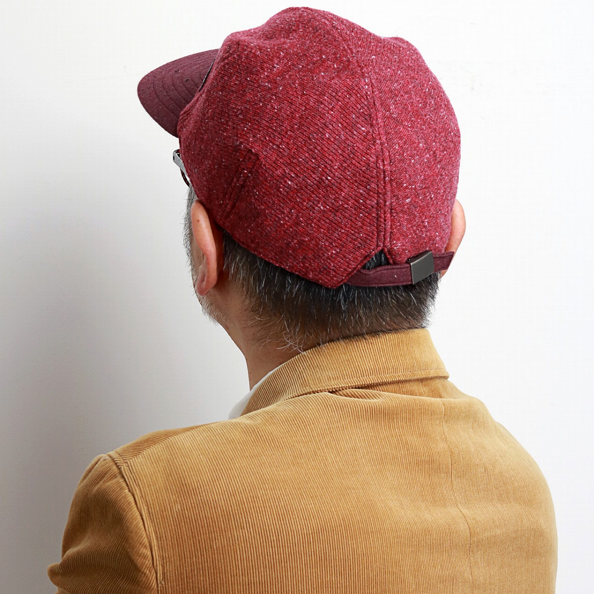 0deca8c2 ... The cap men sicacova hat check Viyella raised NEP knit CAP winter  material logo mark Malin