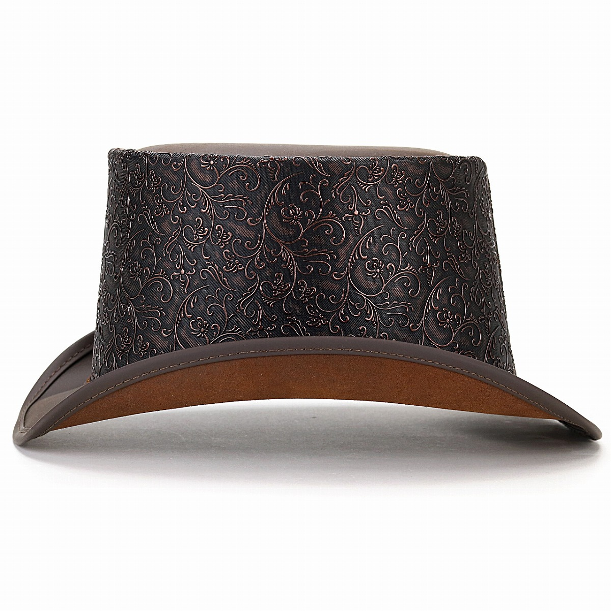 Christmas Top Hat.Hat Tea Brown Top Hat Man Hat Present Christmas Gift In The Fall And Winter High Quality Head N Home Arabesque Pattern Hat Made In The Hat Leather