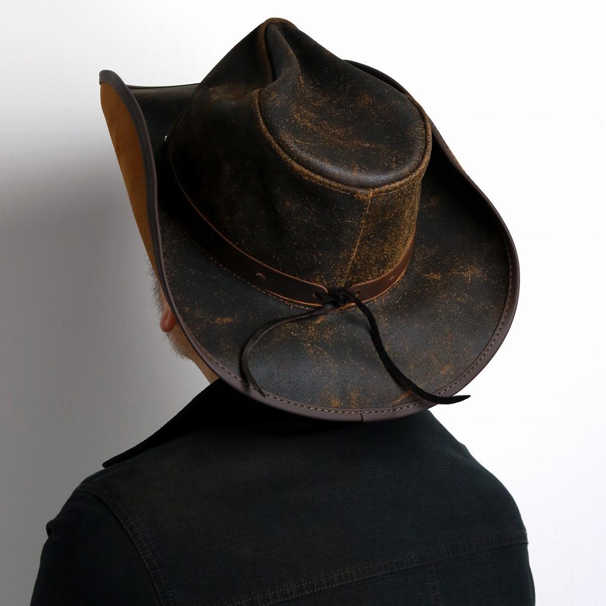 232e594eacd The lady s gentleman hat dark brown walnut  cowboy hat  man hat present  Christmas gift that Western film California western hat genuine leather is  light in ...