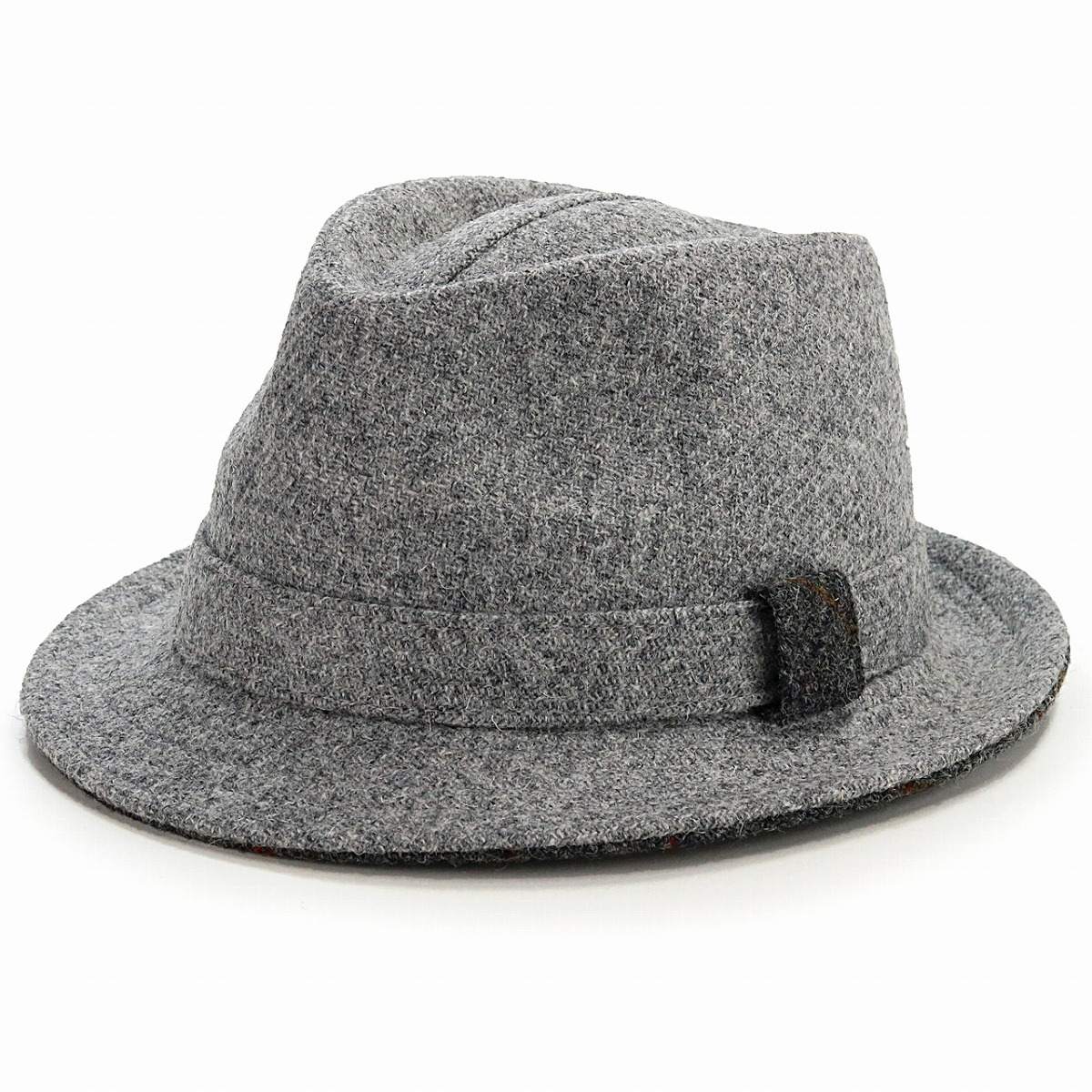 ... Gift gray  fedora  made in size 60cm 62cm カシュケットウール soft felt hat ... b51a2af840e