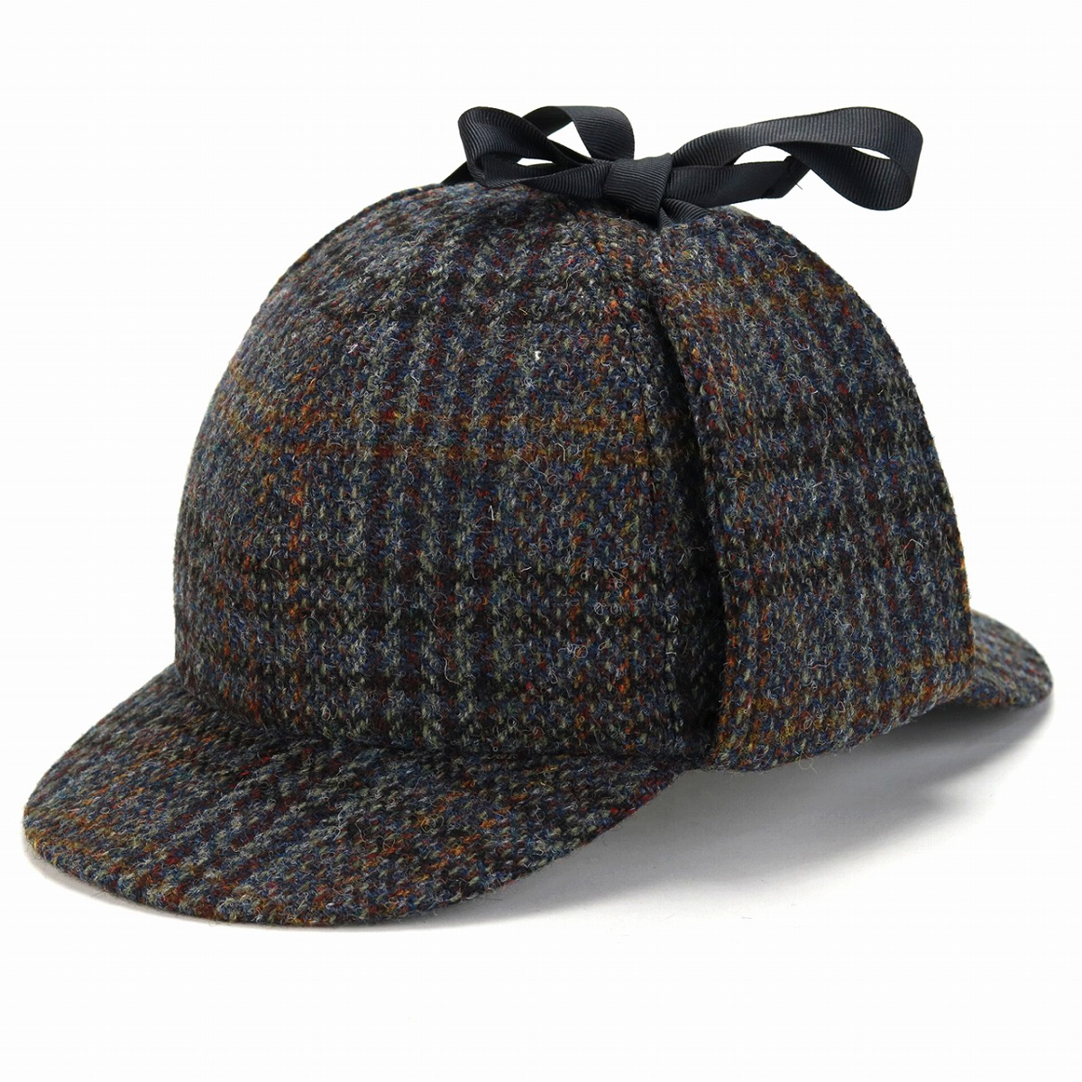 f5782e22a19 1303 model X HB310-A4 ディアストーカーカシュケット detective cap fashion   blue blue  system  deerstalker hat  man Christmas gift present made in Harris ...