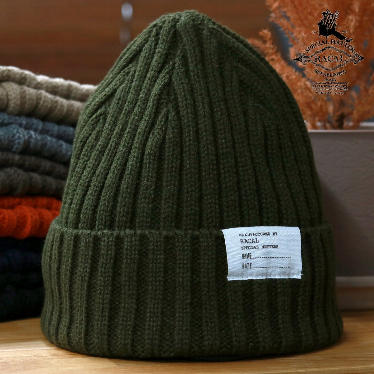 95c3b1d59a0 Casual men coordinates   dark olive  beanie cap  Christmas gift present  with the レディース ...