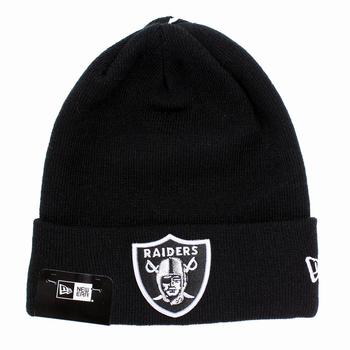 94334dd8 newera Oakland Raiders knit hat ニューエラニットワッチチームロゴ NBA NEWERA Basic Cuff Knit  black [beanie cap] present man new gills ...