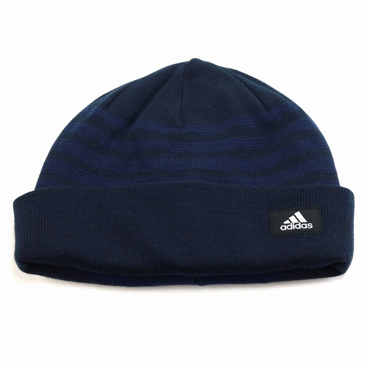 Adidas hat men adidas knit hat horizontal stripe lapel ニットワッチ cold  protection brand logo knit ... 439aaa47bff