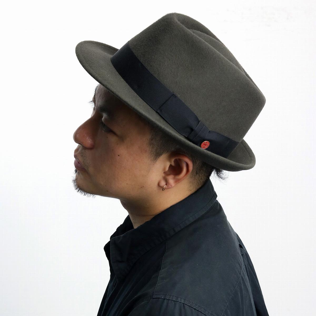 The product made in サイズマイザーハット soft felt hat hat gentleman wool Shin pull  plain ... 38b83d54045