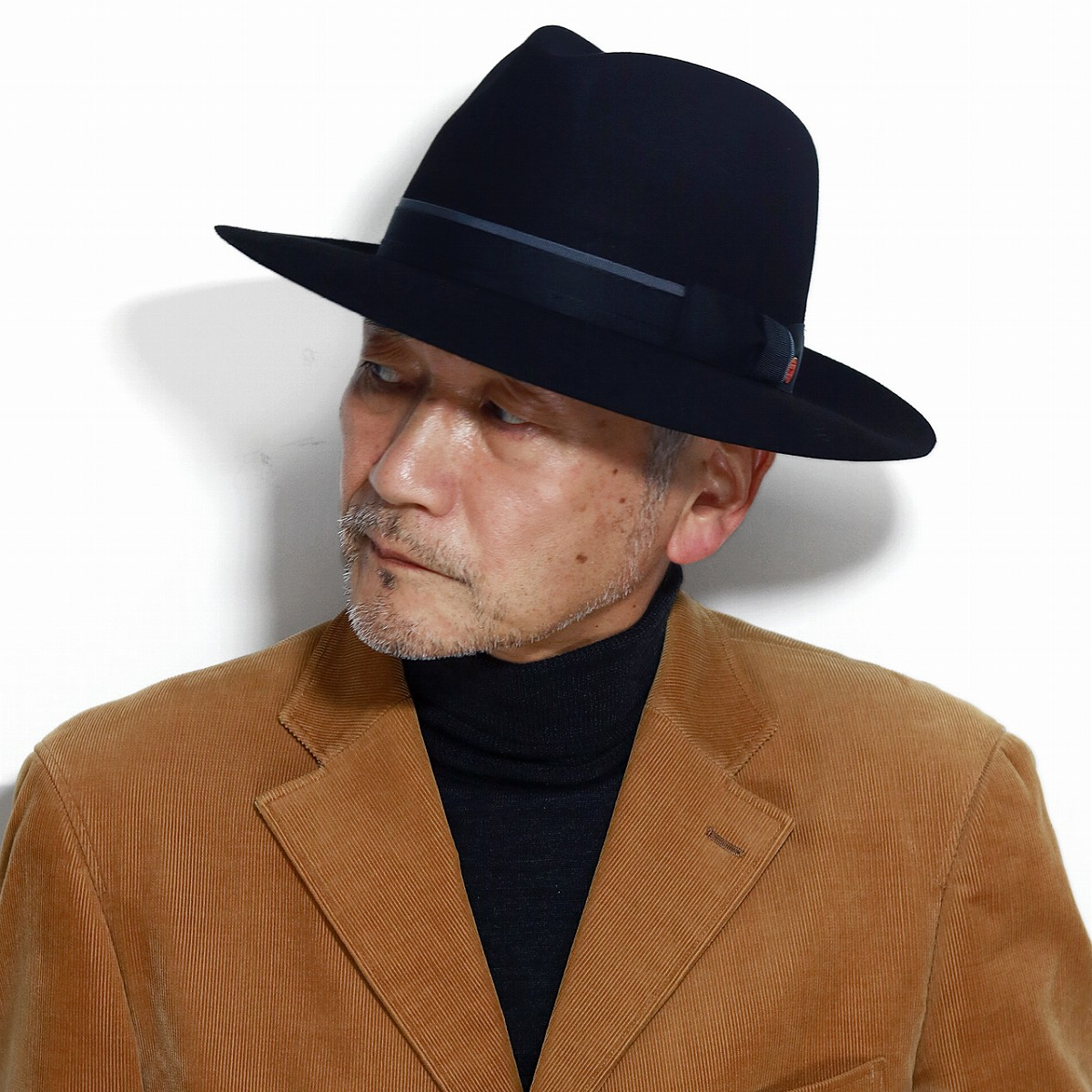 ELEHELM HAT STORE  Felt hat high quality beaver fur felt mayser soft felt hat  hat felt men thunk pull plain fabric マイザー hat big size 62cm trilby hat ... 89323e668be