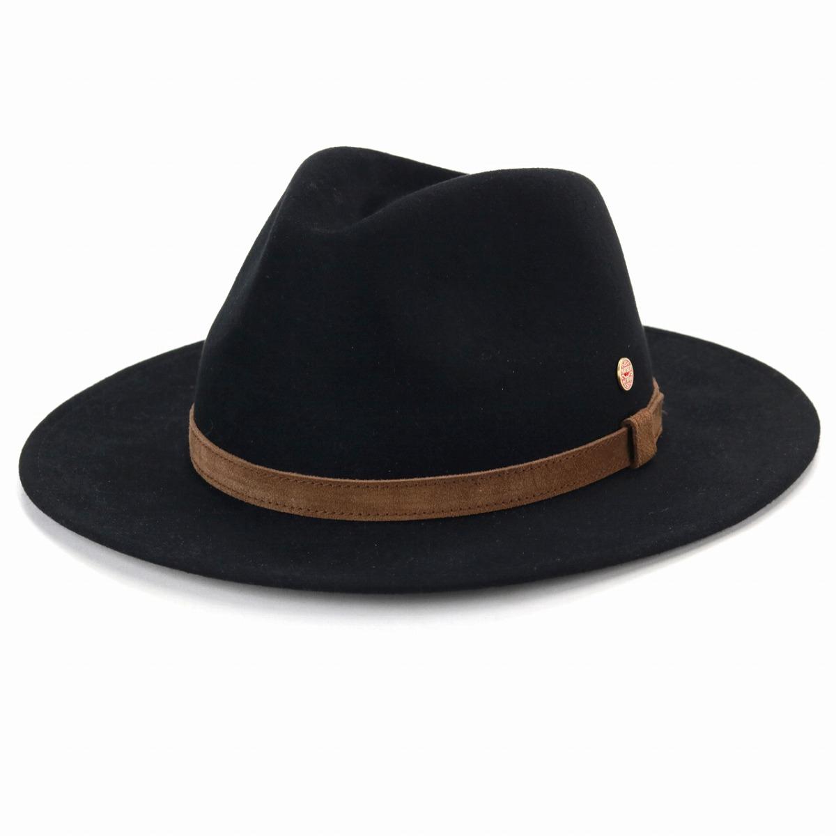 d576f6be0a2 Black. A brand MAYSER. Y ditch rim suede genuine leather hat soft felt ...