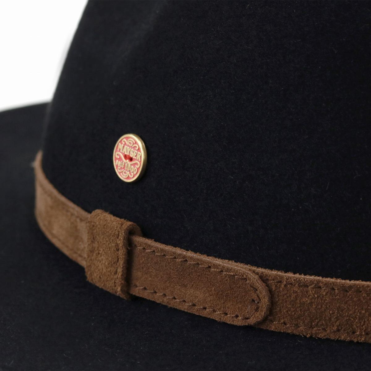 52e89f8465 Y ditch rim suede genuine leather hat soft felt hat hat men Mai Zara bit  fur felt hat Lady's felt hat men MAYSER trilby hat Shin pull gentleman / ...