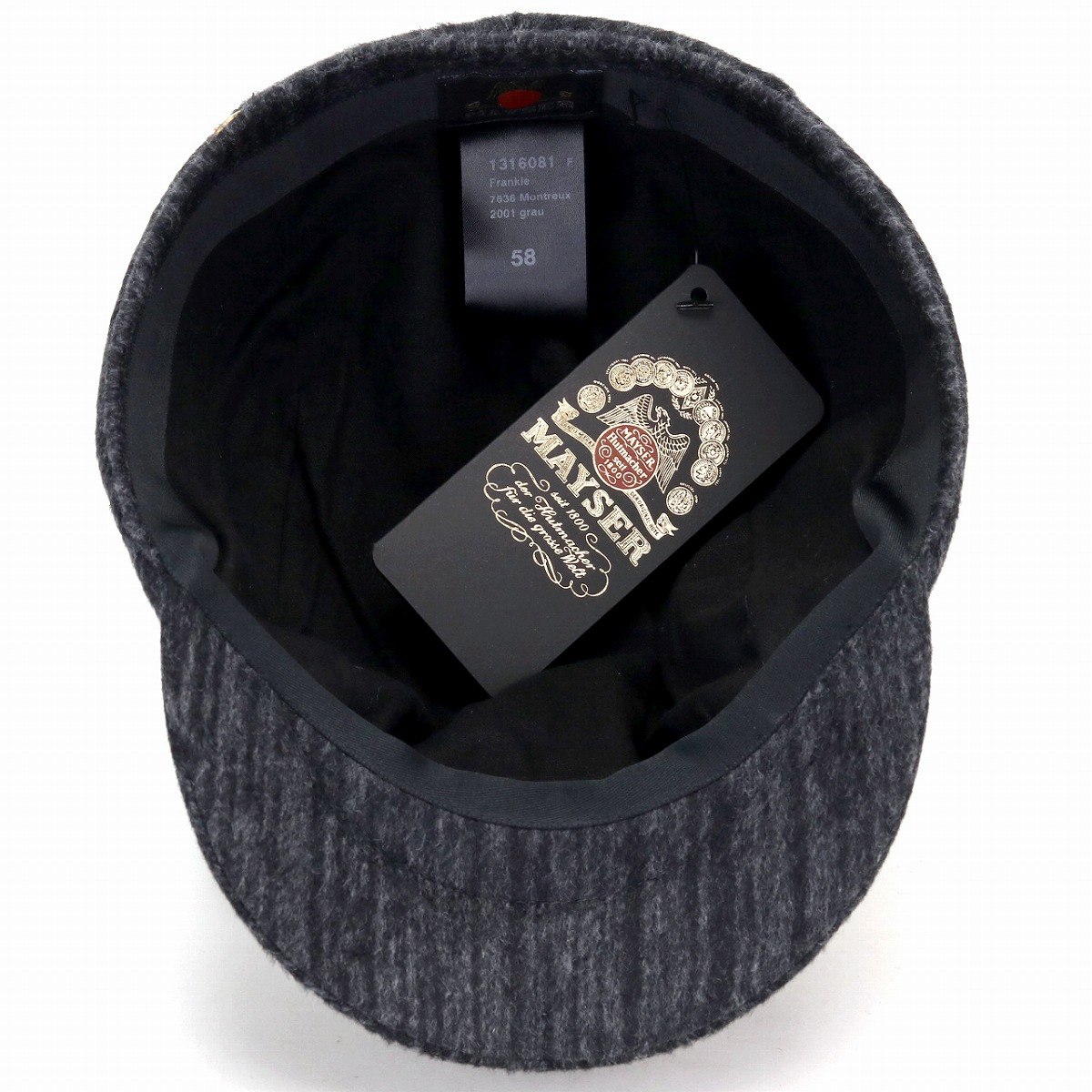 b6a2c2d5576 MAYSER hunting cap men cashmere blend wool Frankie hunting cap hat  ストライプマイザーハンチング hat gentleman warm cold protection ivy cap Lady s ...