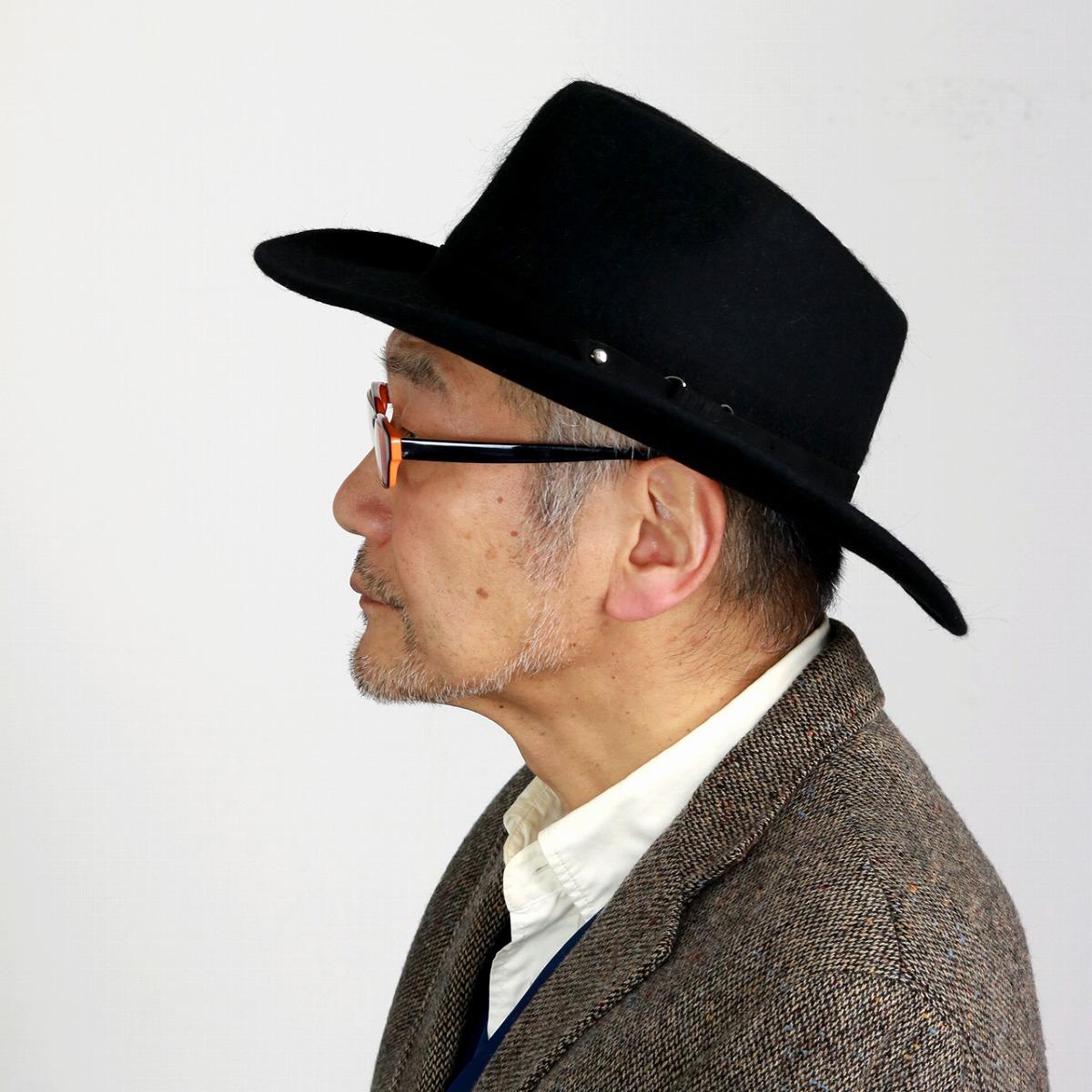 ELEHELM HAT STORE  Soft felt hat hat suede belt black black  fedora ... 762556fcb3ee