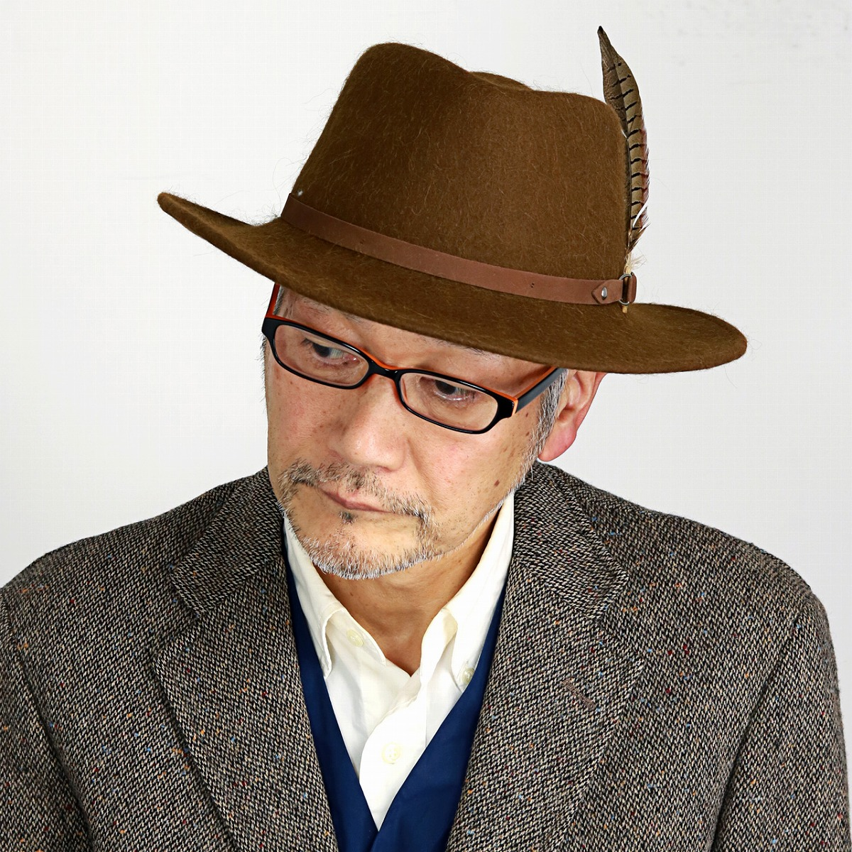 077b4d92740 Suede belt camel  fedora  stetson hat mail order man hat Christmas gift  present with ...