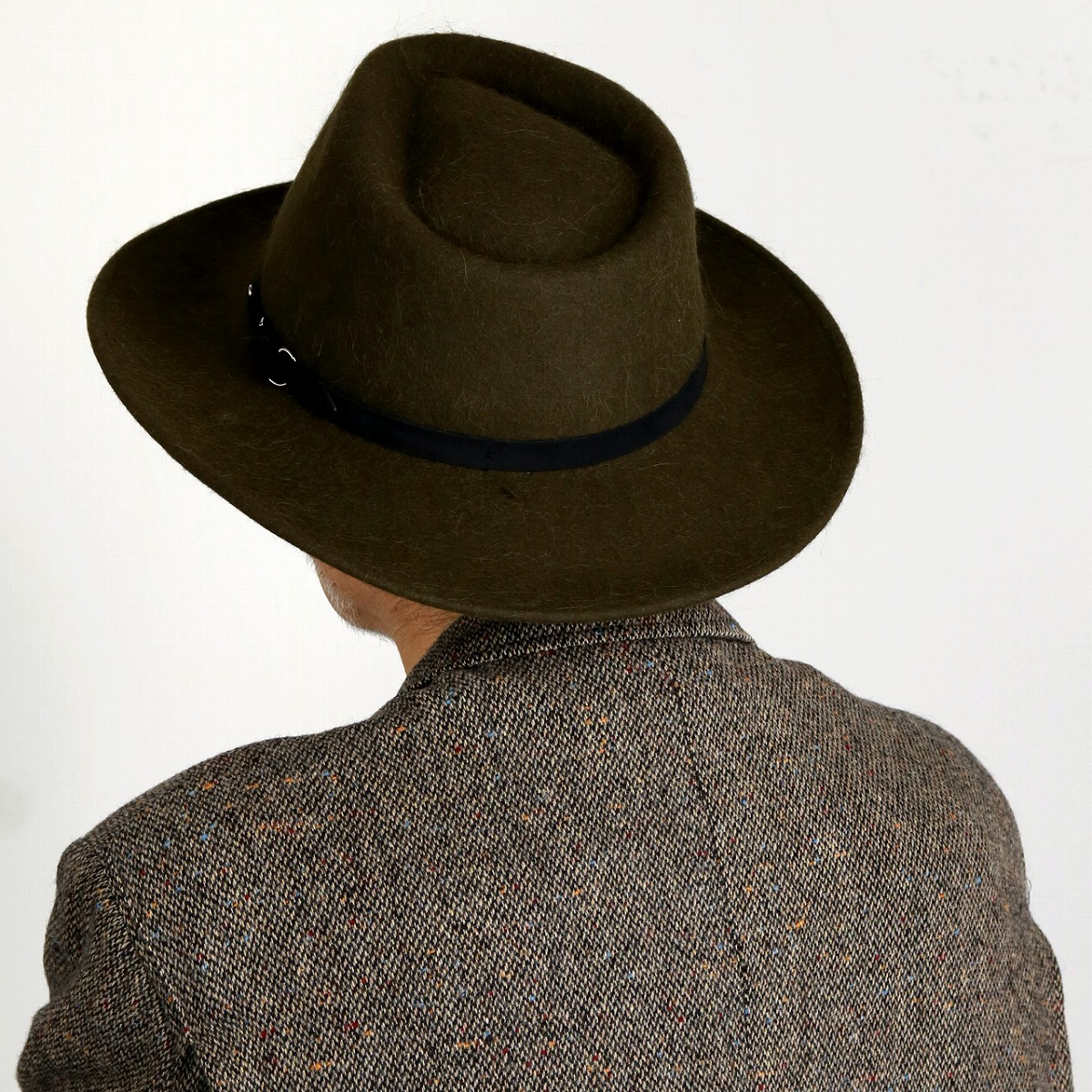 60ccd2cecf6 ... Suede belt khaki  fedora  stetson hat mail order man hat Christmas gift  present with