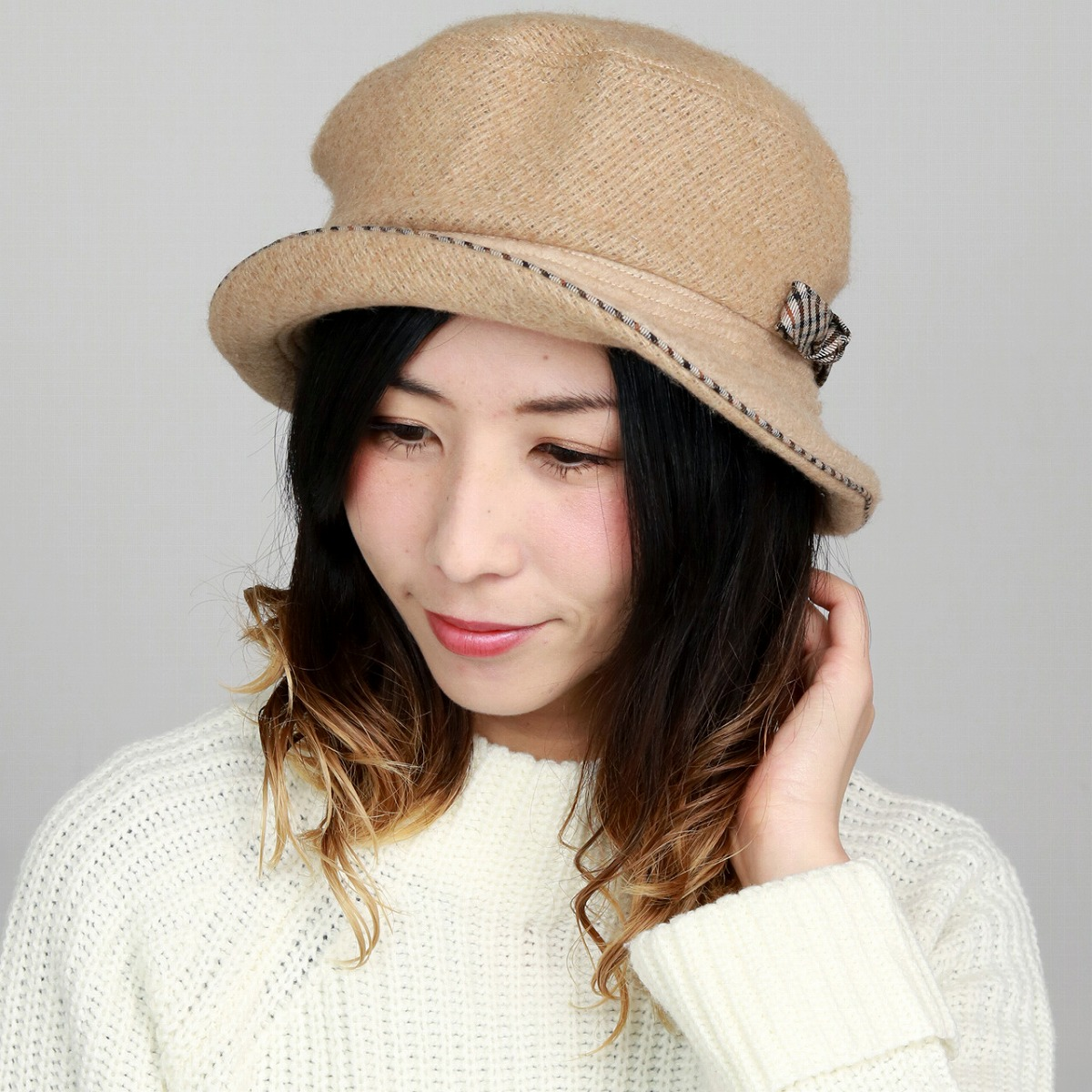 a7196648 Product made in DAKS hat wool fabric Lady's hat fashion Mrs. sailor hat  check Hattori ...